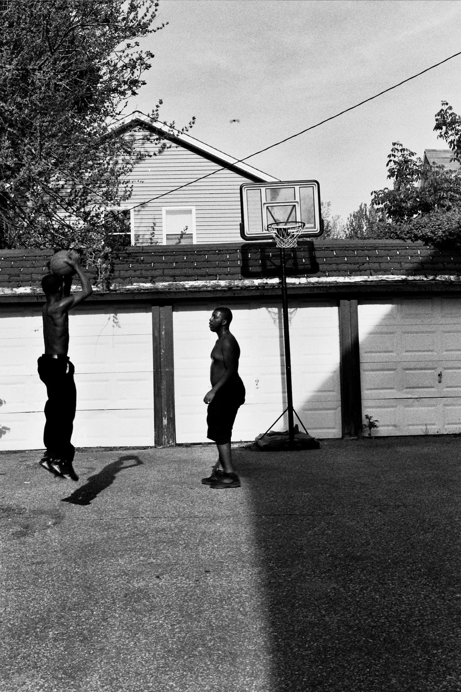 Boys Playing Basketball , Jasmine, 2018