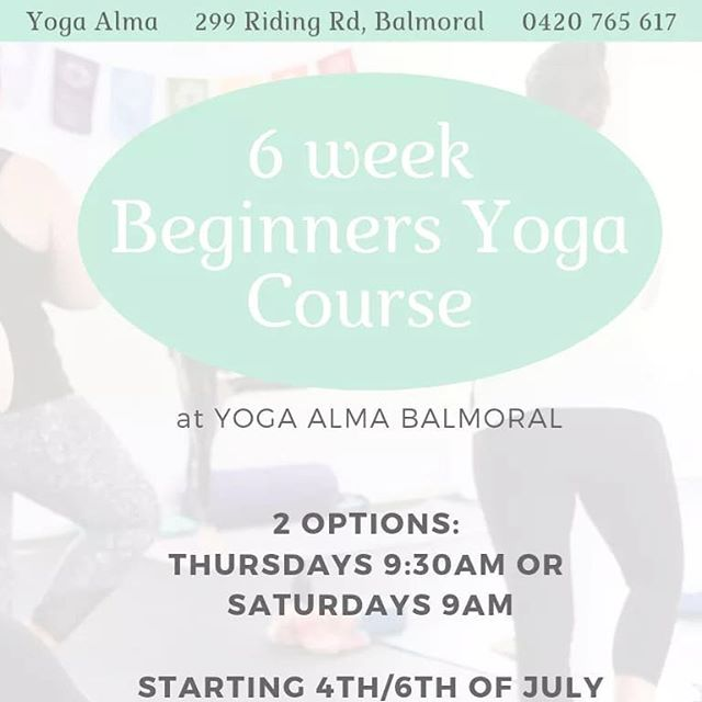 Starts this week!! More info at www.yogaalma.com
