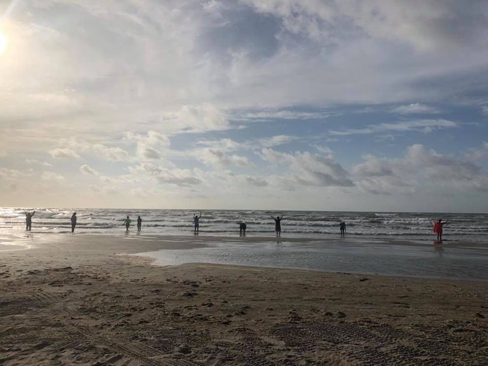SUNrise Ceremonial CELEBRATION on North Padre Island, TX, HONORing the Leo New Moon/Partial Solar Eclipse.