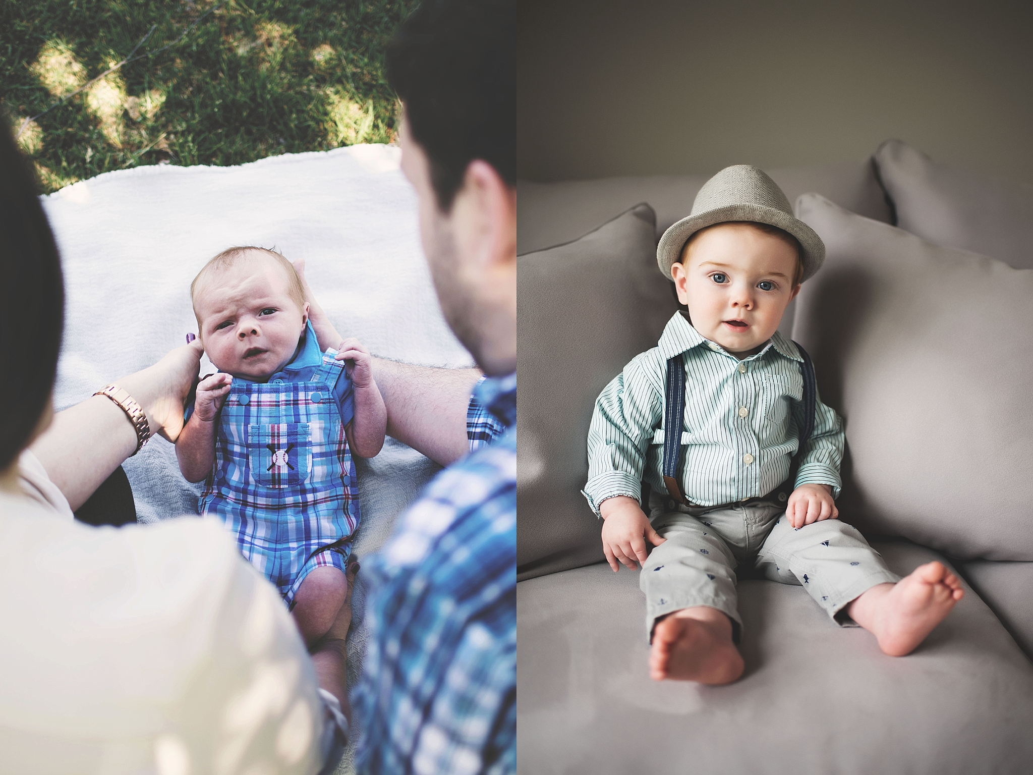 Bryce May 2016 (newborn) & Bryce May 2017 (one-year-old)