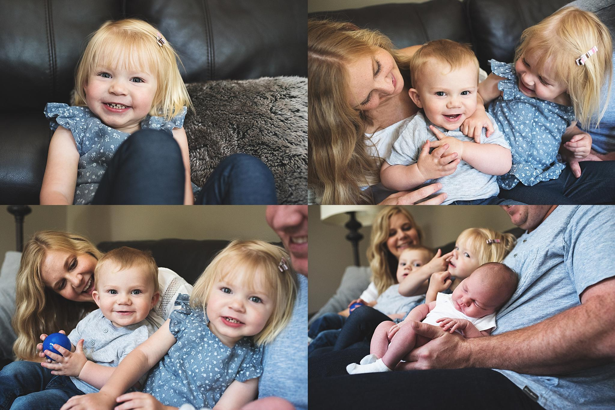 karra lynn photo lifestyle newborn at home - family collage