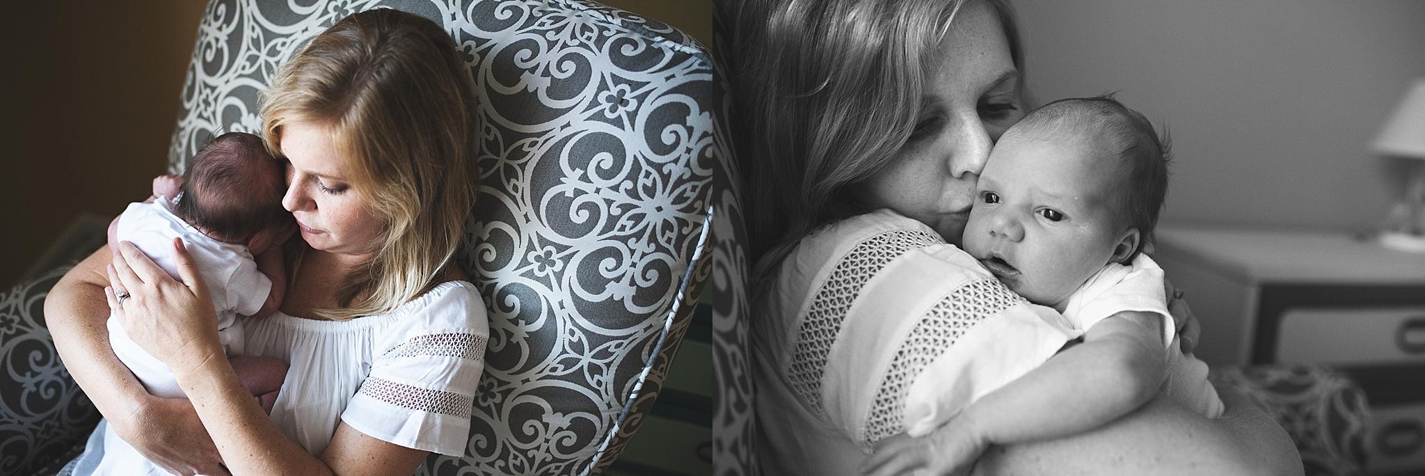 karra lynn photo lifestyle newborn at home - mom and newborn