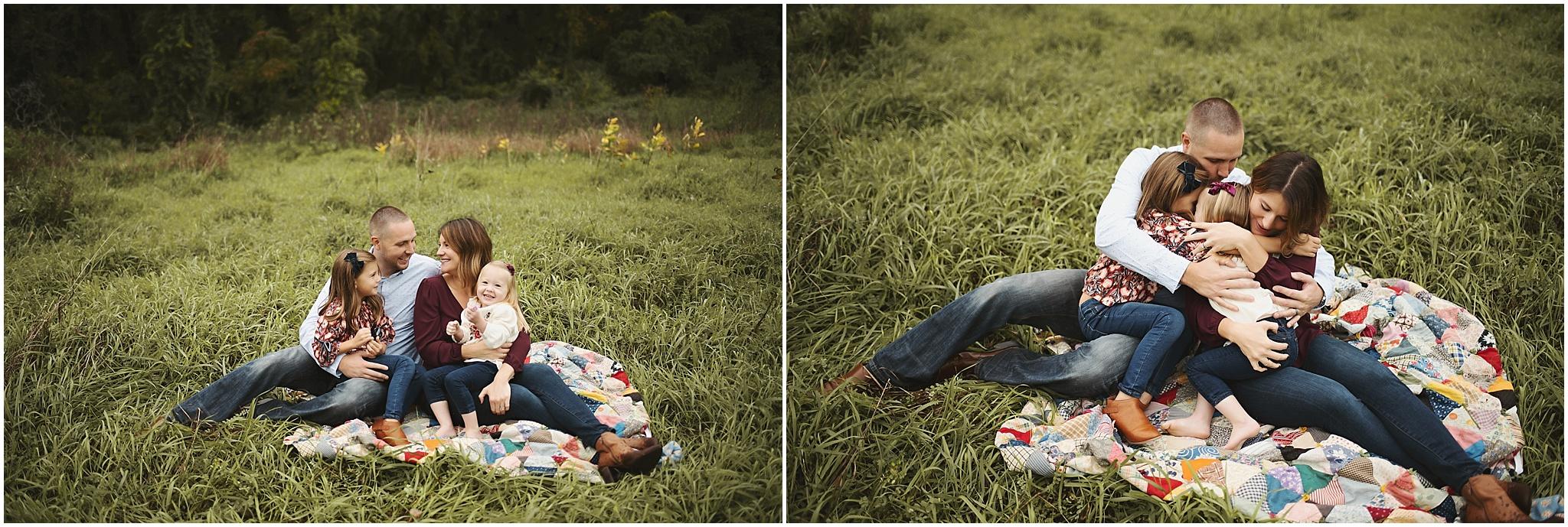 karra lynn photography - family photographer milford mi - family on blanket