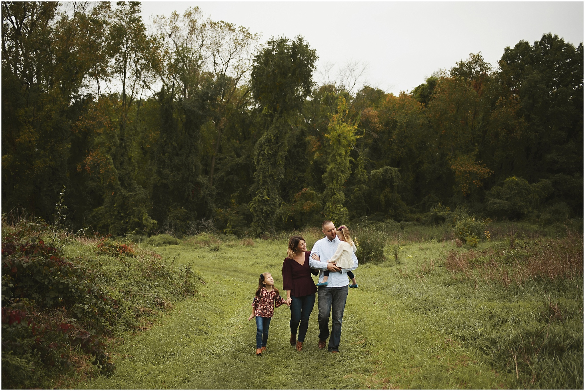 karra lynn photography - family photographer milford mi - family walking