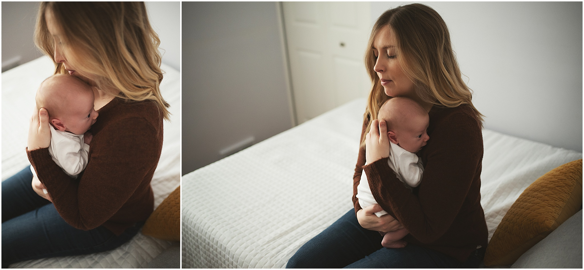 karra lynn photography - newborn photographer northville mi - mom and newborn