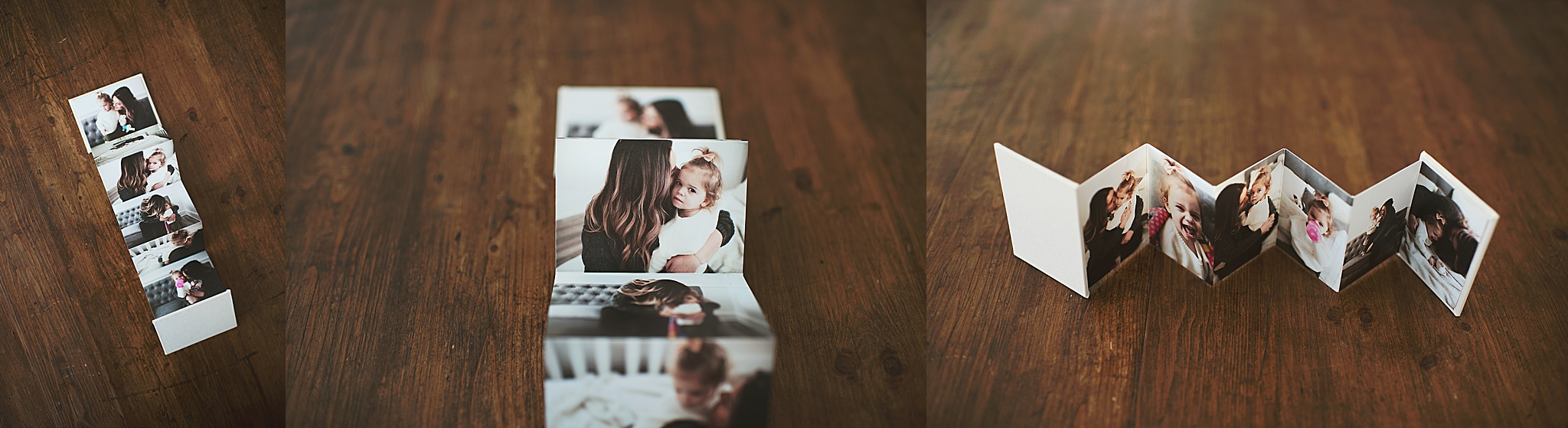 mini accordion photo book - mom and me