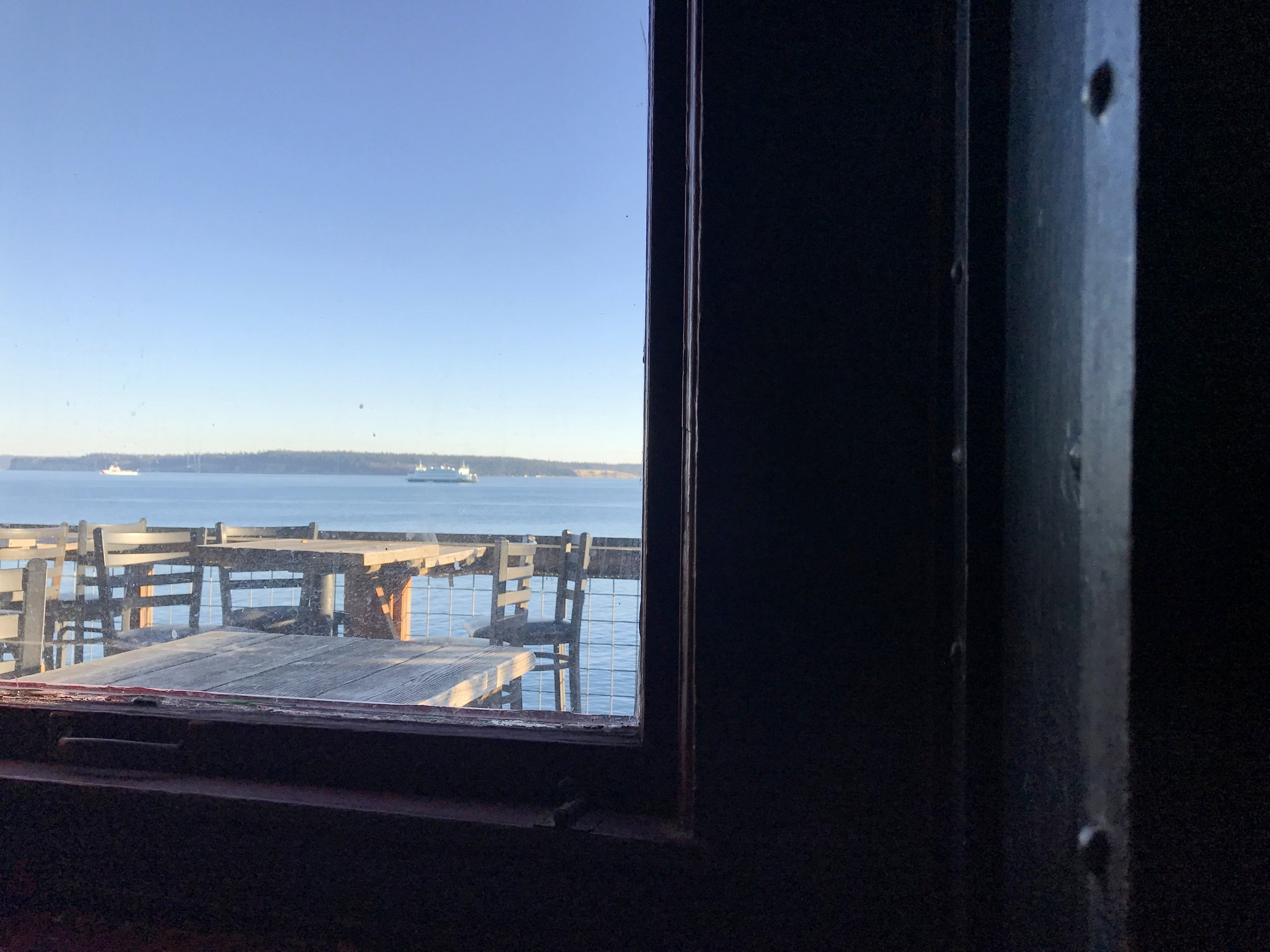 View from window at Sirens.