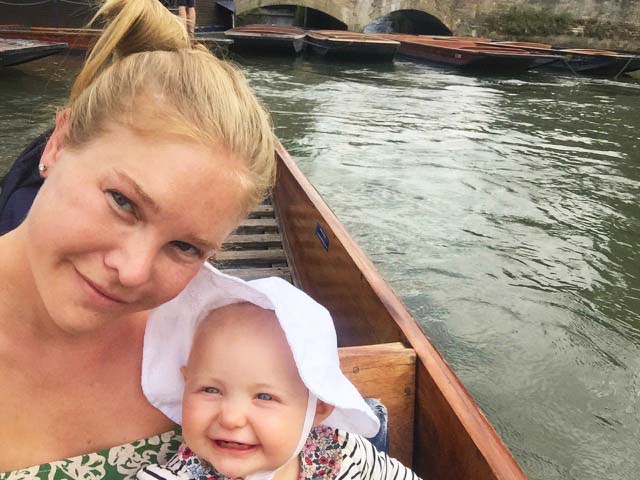 Punting in Cambridge... we didn't fall in!
