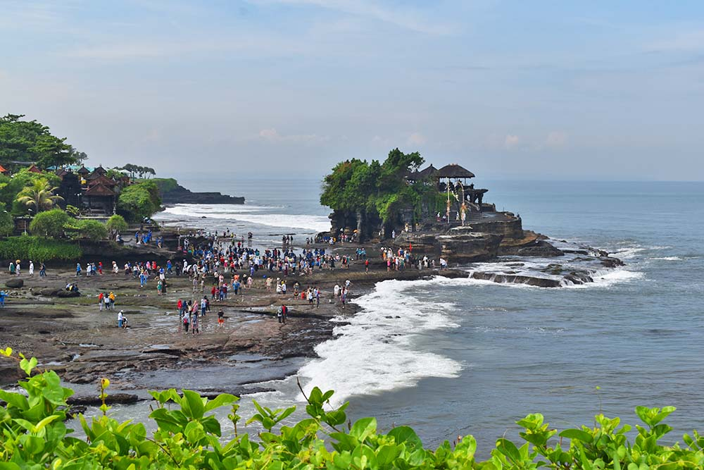 Tanah Lot, one of Bali's most famous temples.
