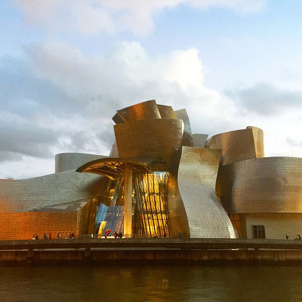 The incredible Guggenheim Museum Bilbao, designed by architect Frank Gehry