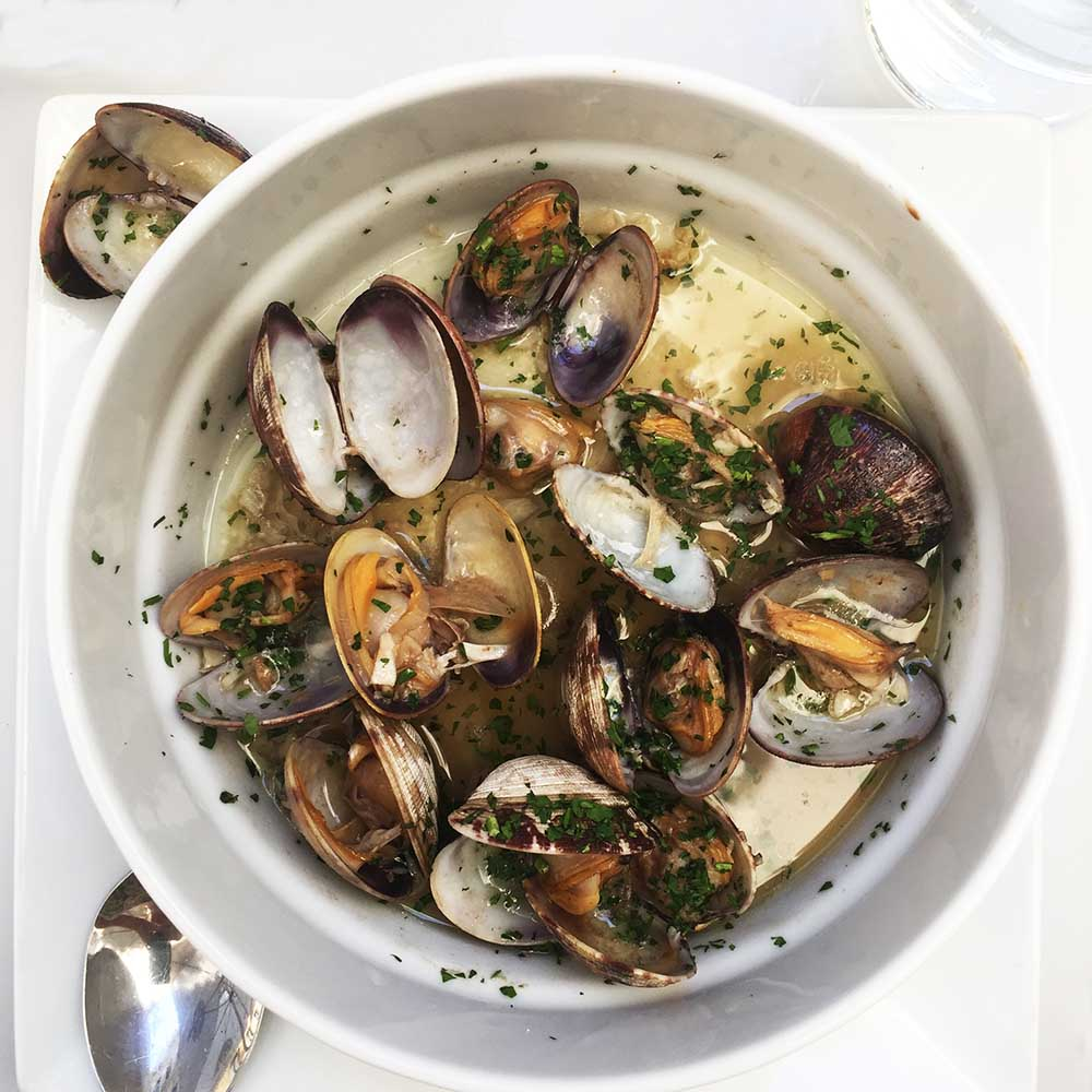 Delicious clams cooked in local Sherry in Jerez de la Frontera.