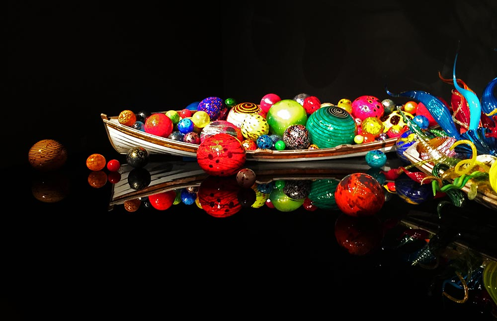 """""""Ikebana and Float Boats"""" by Dale Chihuly at Chihuly Garden and Glass."""