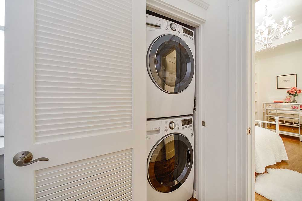 It was really handy having the washing machine and dryer so close!
