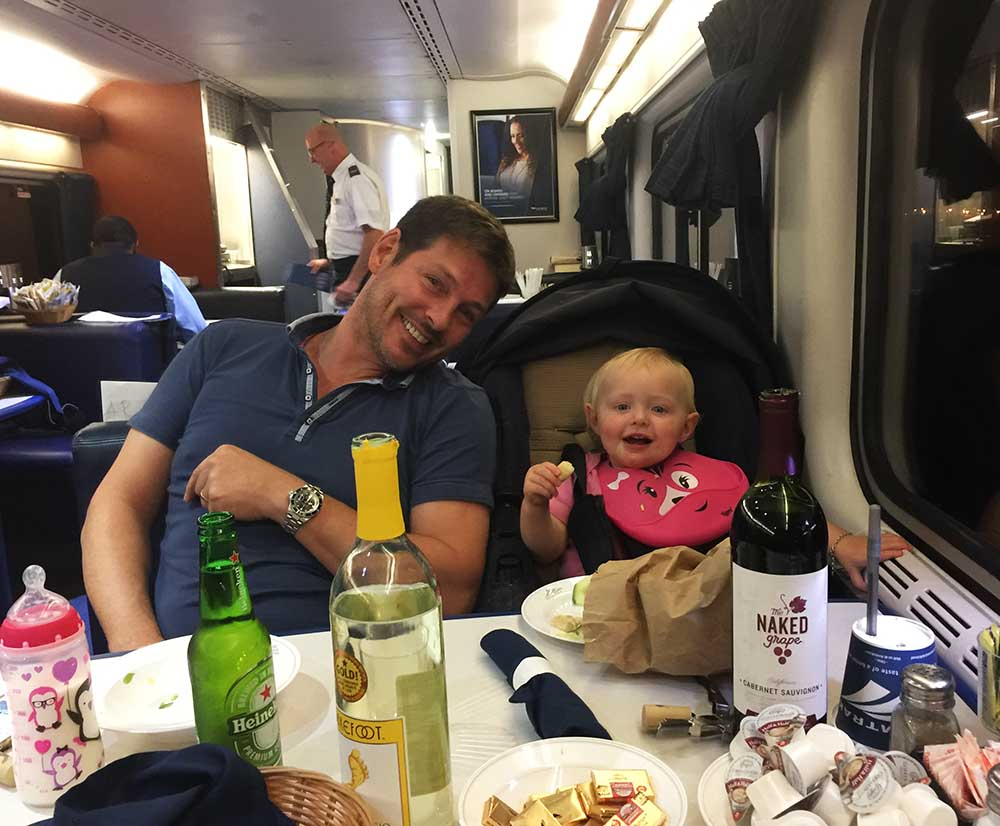 The overnight train from St. Louis to Austin was a total blast, but the choice of wine available was very limited...!