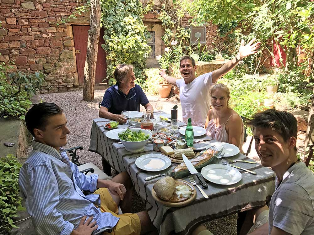 Lunch on Justin's birthday was yet another feast!