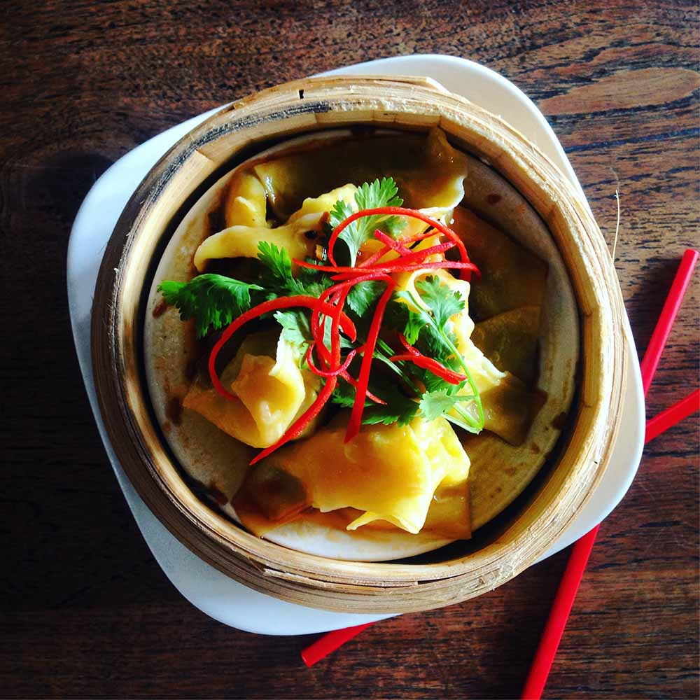 Mamasan's perfect steamed snapper dumplings.
