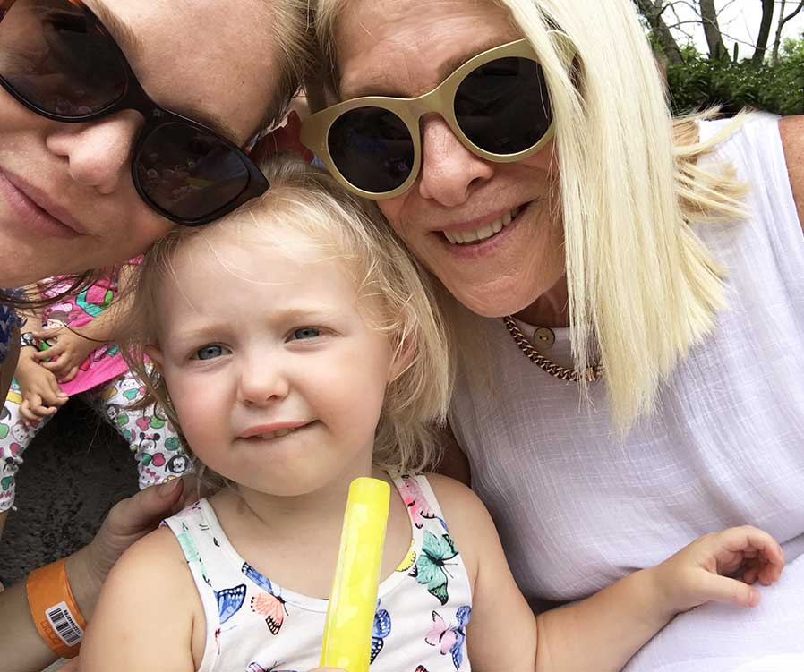 Three generations of girls hanging out :-)