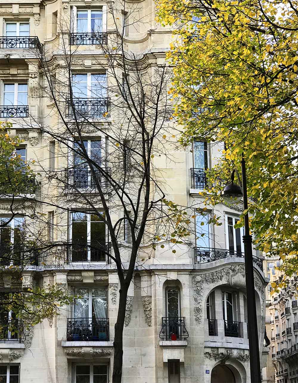 Parisian architecture and Fall colors is such a beautiful combination.