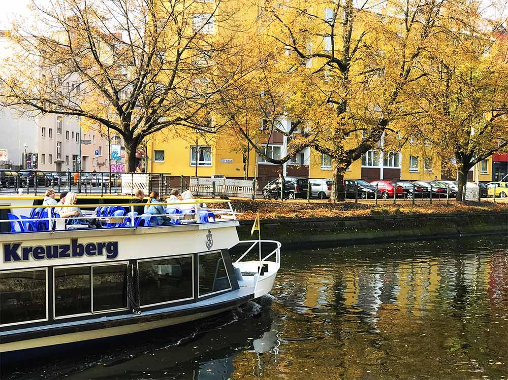 The canal in Kreuzberg.