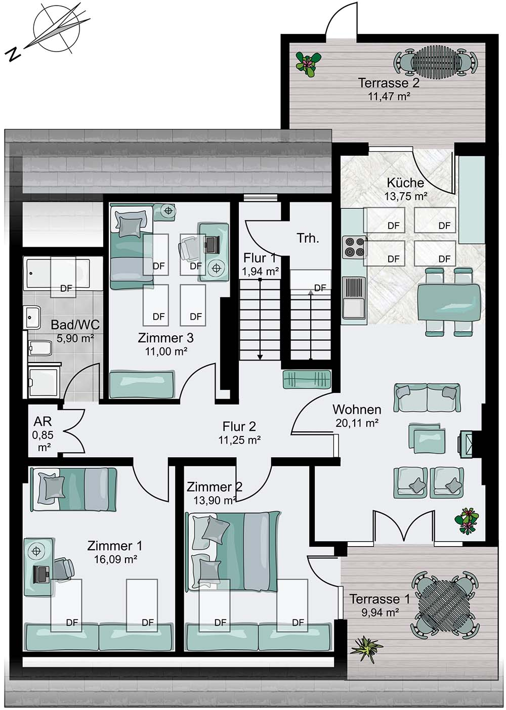 The suggested floorplan... If we go ahead with the project, our version will look very different!