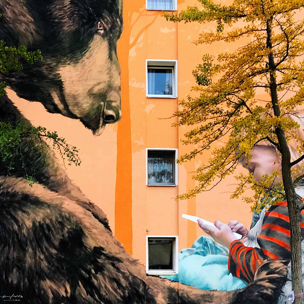 A mural on an apartment building in Kreuzberg.