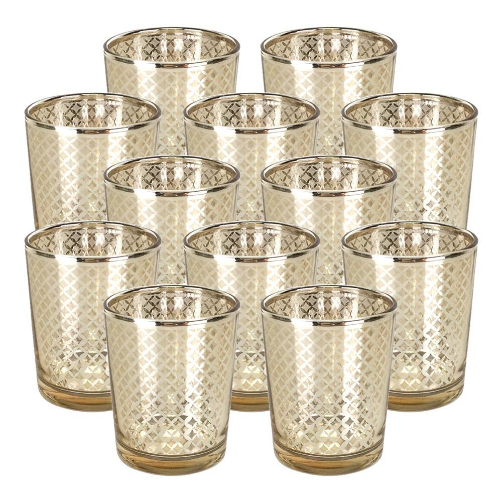 Set of 12 Candle Holders: $23.98
