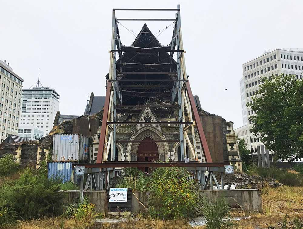 ChristChurch Cathedral, seven years after the earthquake.