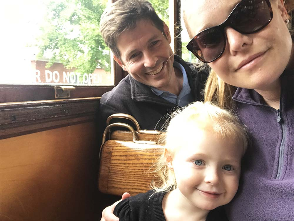 Rosie loves all forms of transport, and this was her first time on a tram. Tick!