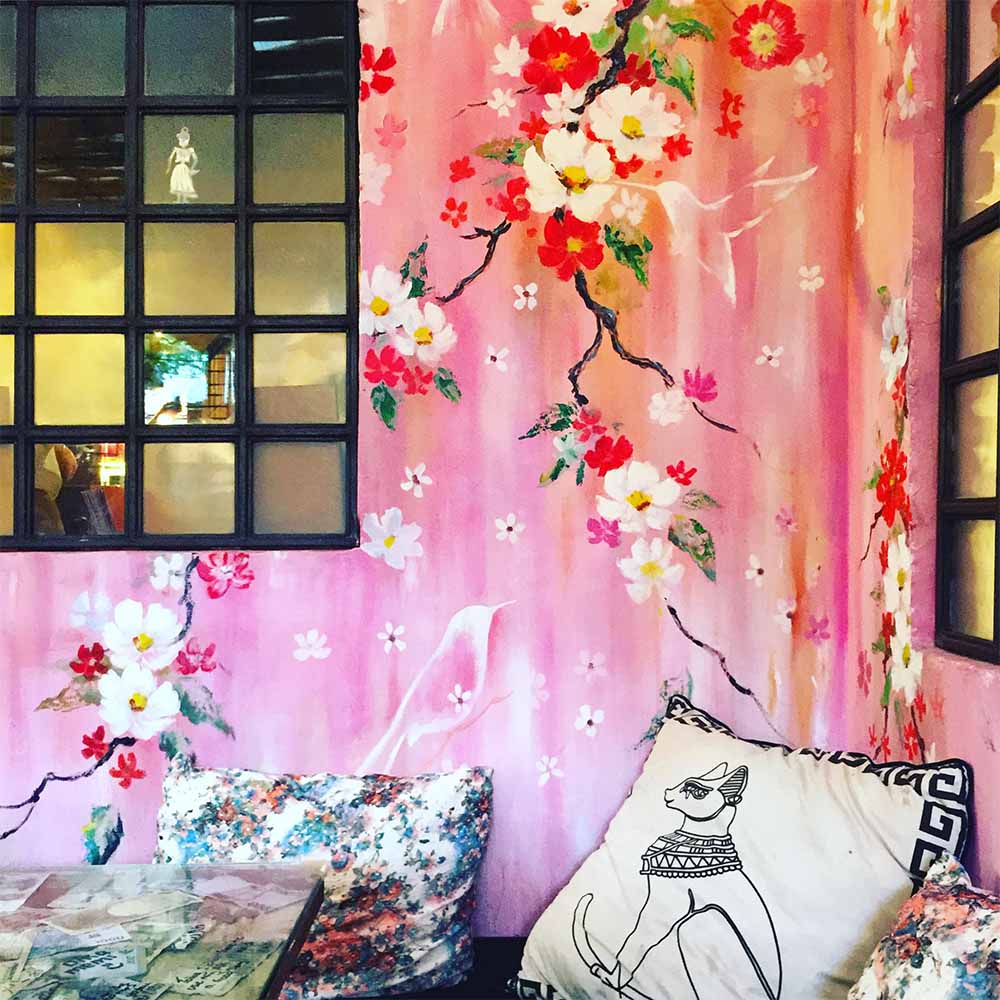 The hand-painted interior by  @kf_paintings  at  Revolver Cafe  in Seminyak.