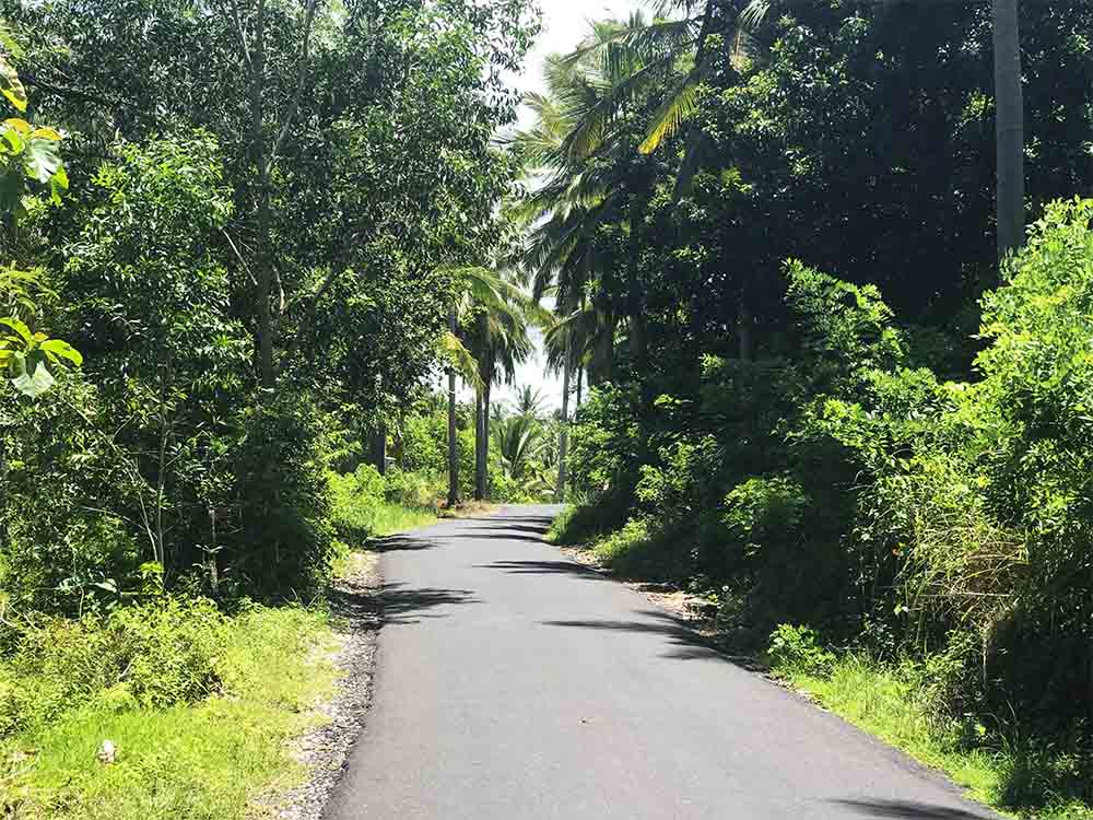 The main road in Penida.