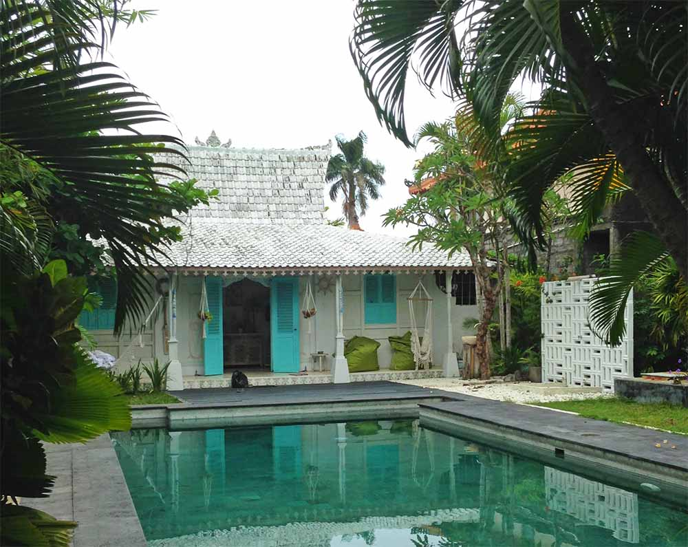 This traditional Javanese 'juglo' has been renovated and turned into a vacation rental.