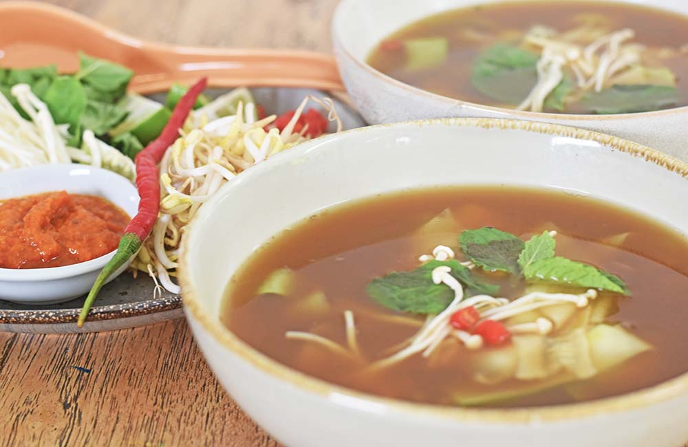 Vietnamese 'Zoodle' Soup made with this Beef Bone Broth.