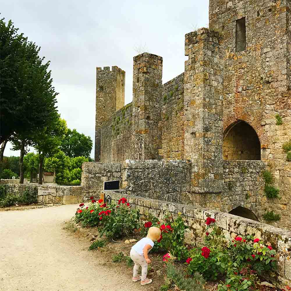 The ancient fortified village of Larressingle, considered of the most beautiful in France.