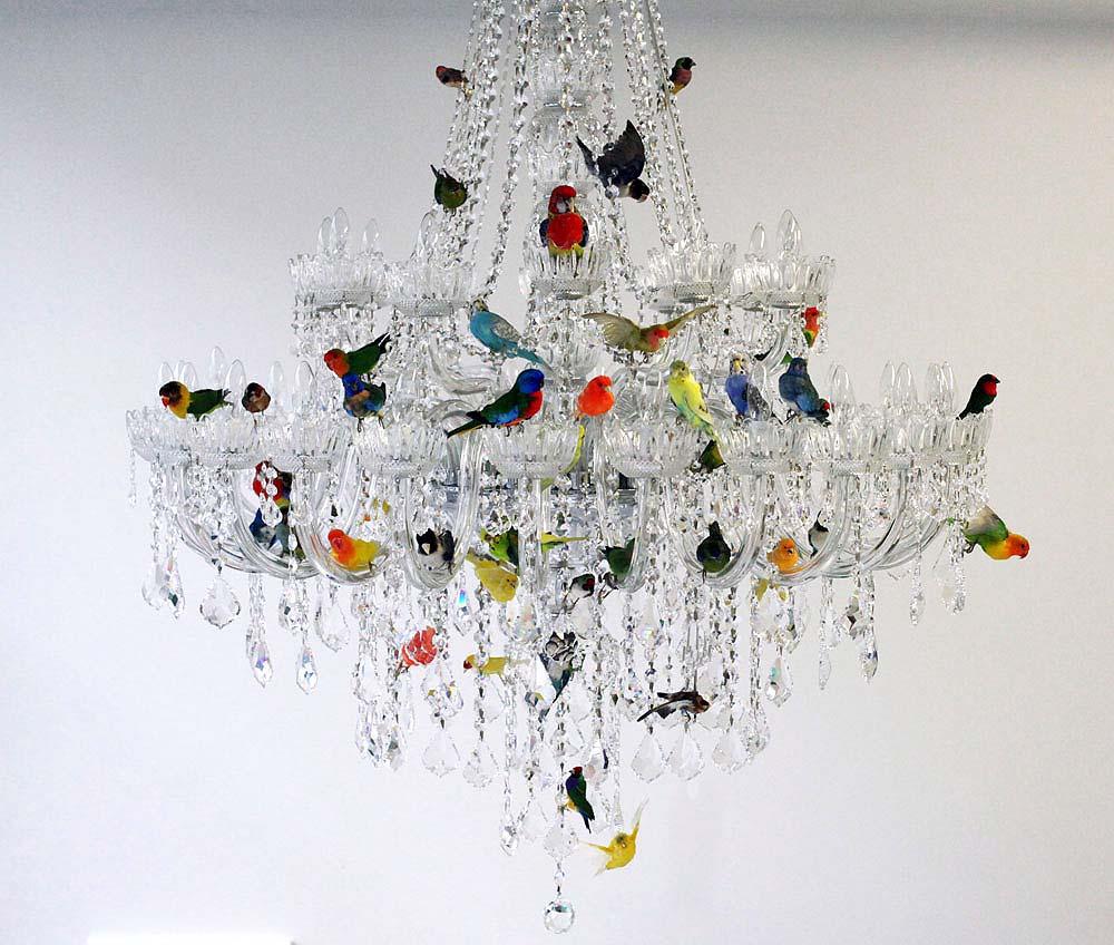 Sebastian ErraZuriz's Bird Chandelier , 2013, via Sebastian ErraZuriz Studio.
