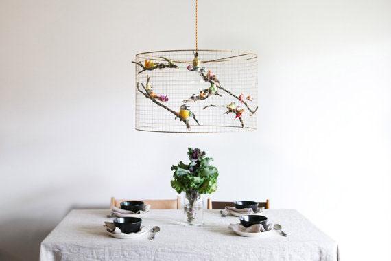Copper Birdcage Pendant