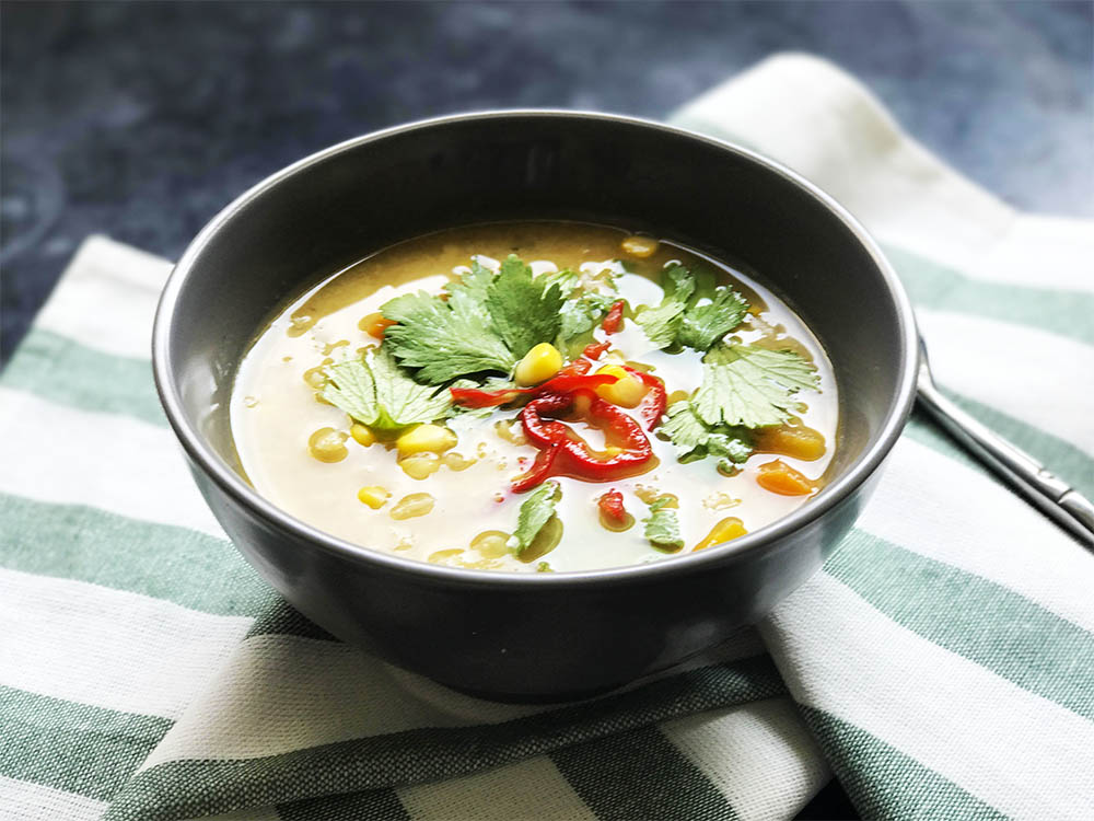 One tablespoon of nutritional yeast in this  split pea soup  makes it even more delicious.