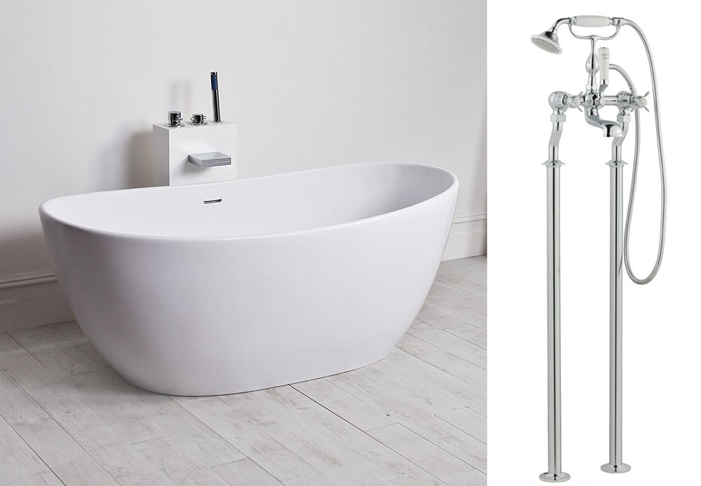 The bath tub is from  Lusso Stone  and the taps are by  Butler & Rose .