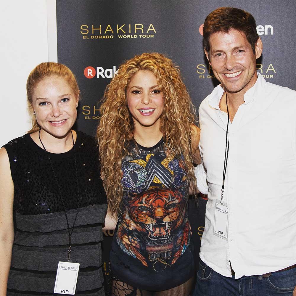 Backstage with Shakira.