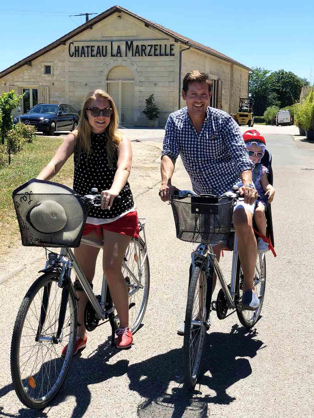 Cycling around Saint Emilion.