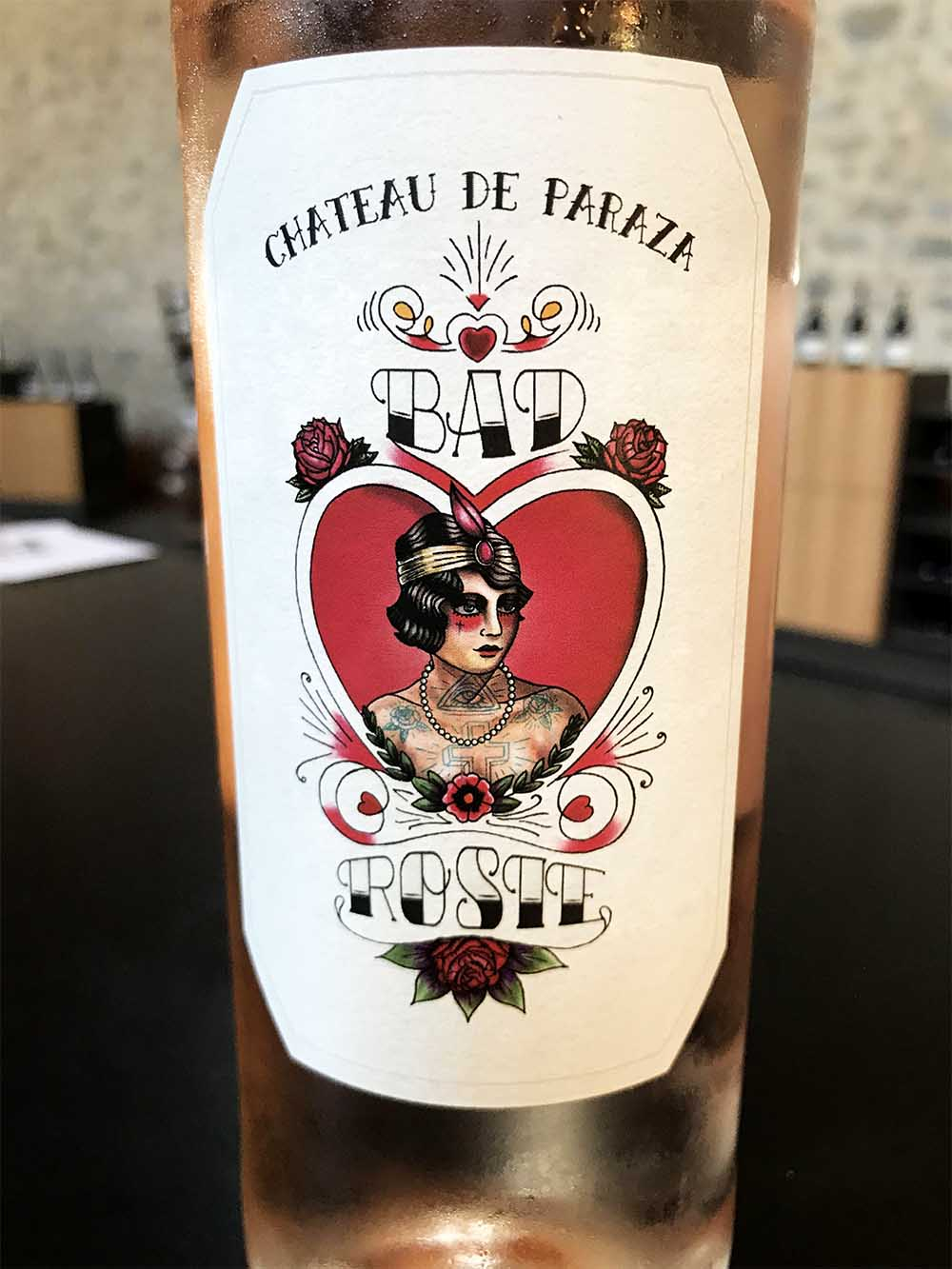 Can we belive we tasted a wine named 'Bad Rosie'?!