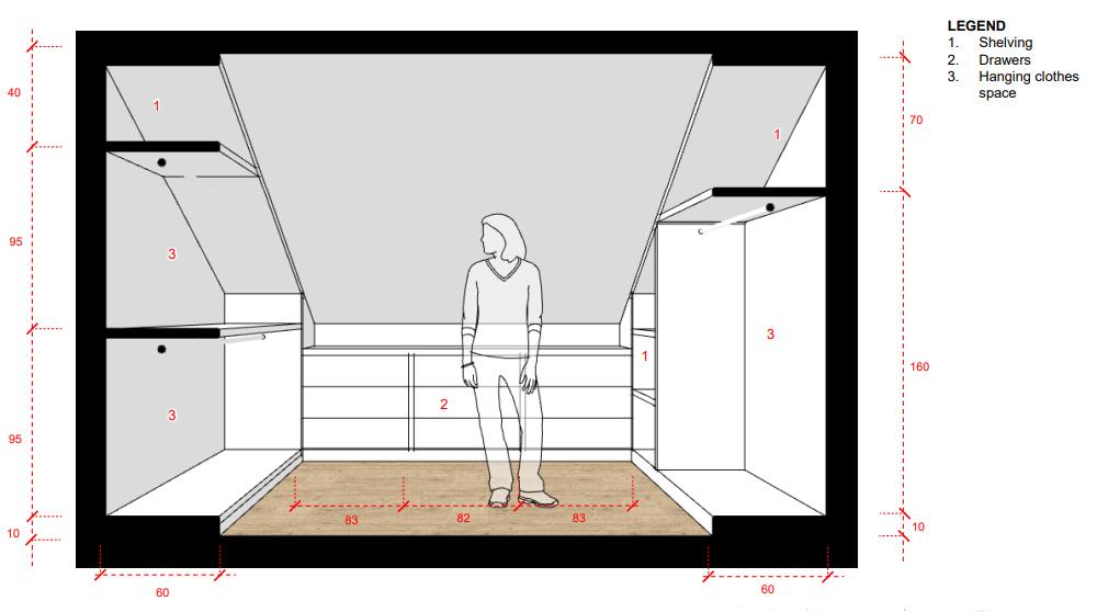 Inside the walk-in closet.
