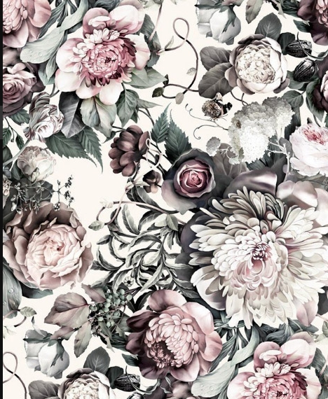 Floral on White