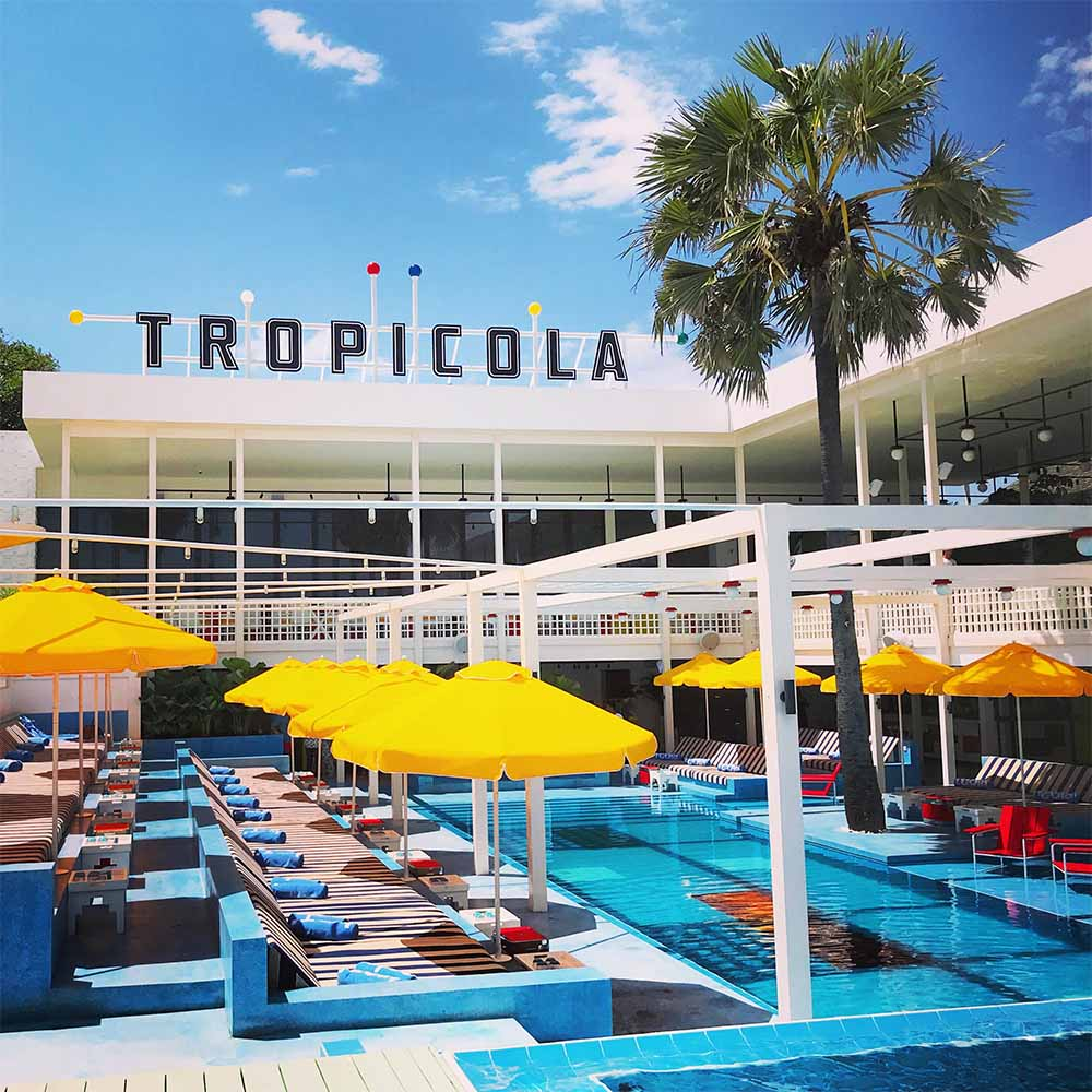 Tropicola Beach Club in Seminyak.