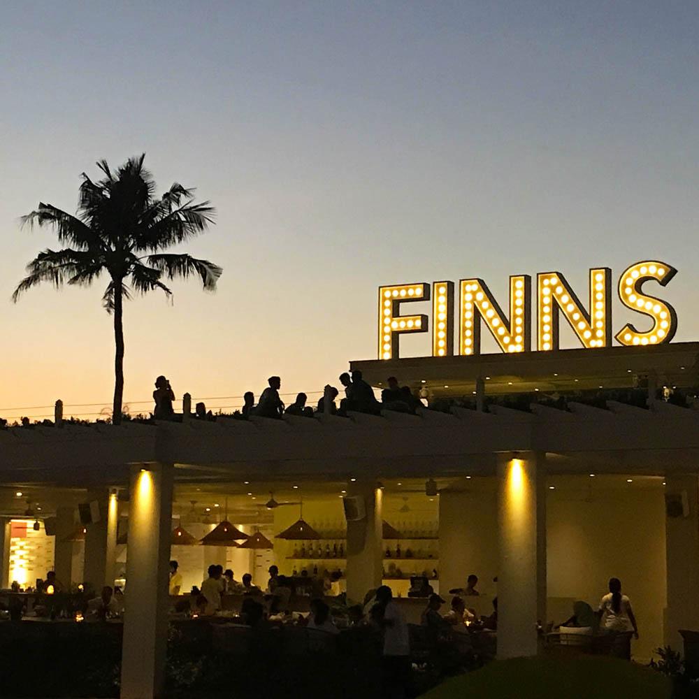 The restaurant at Finns VIP Beach Club.