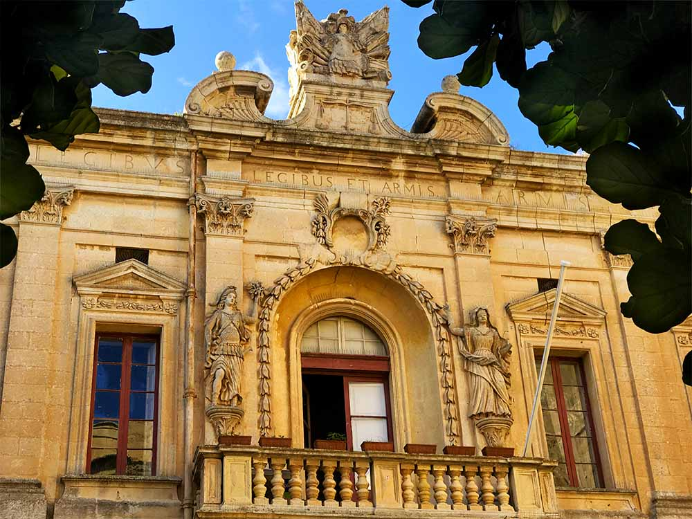 Corte Capitanale; a former courthouse in Mdina, which is currently used at City Hall.