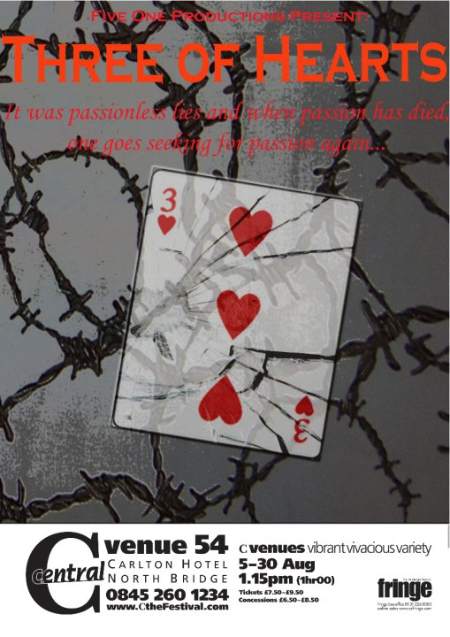 Three of Hearts, Edinburgh Fringe Festival     Woman B