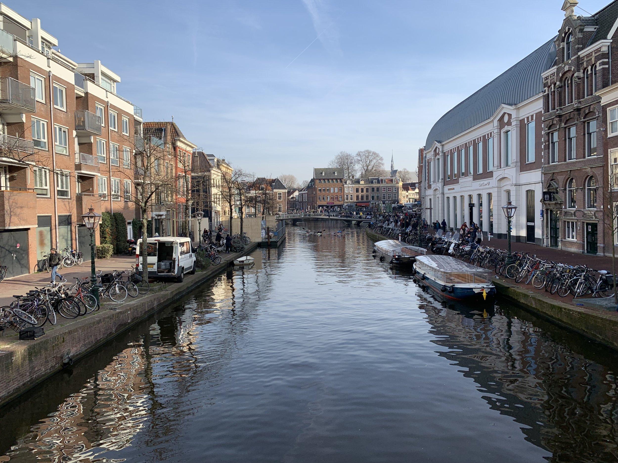 Leiden - Pick your mode of transportation: bike, feet or boat.