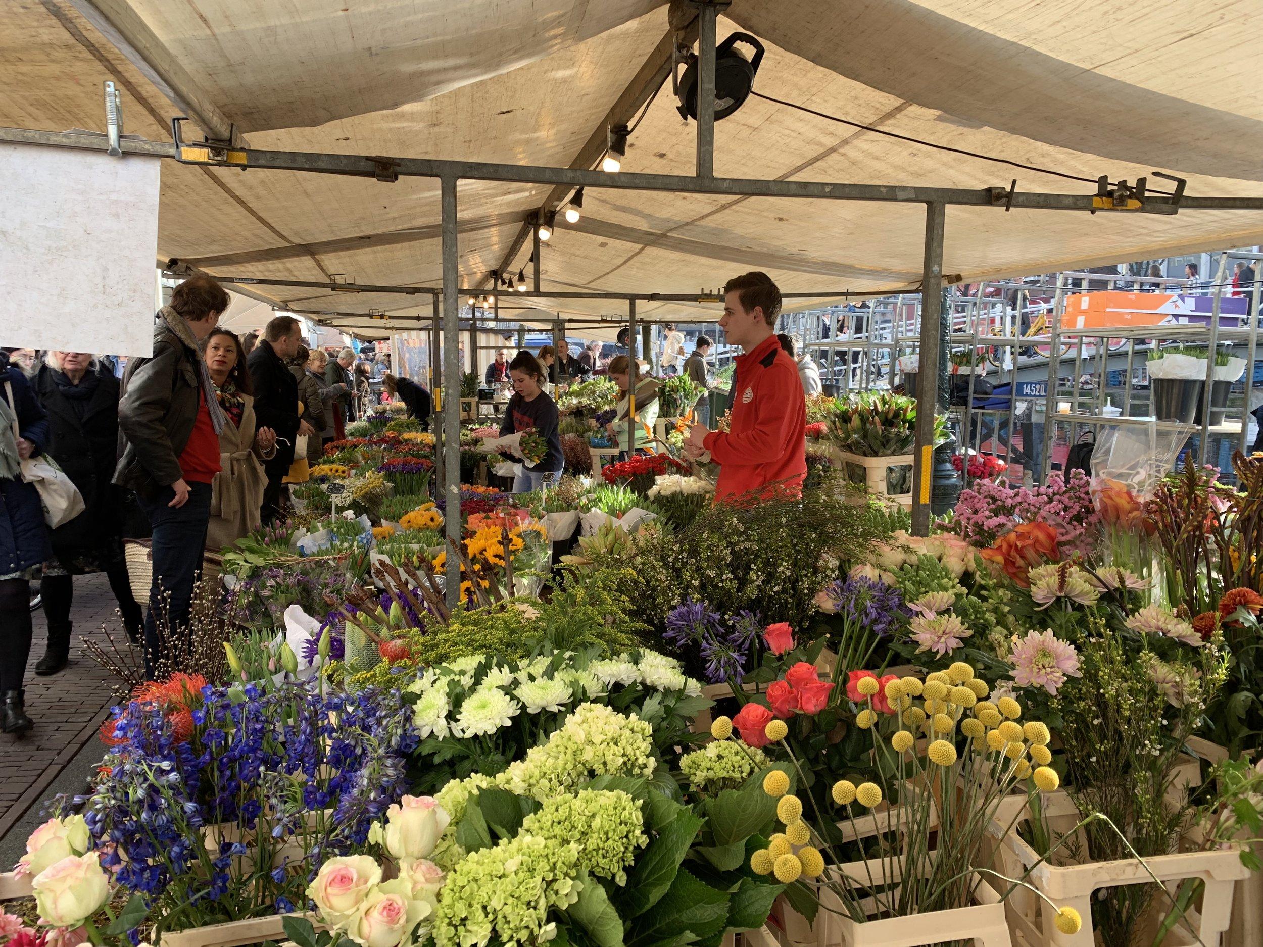 Fresh flower markets overflow in the weekend markets. It's tulip season after all!