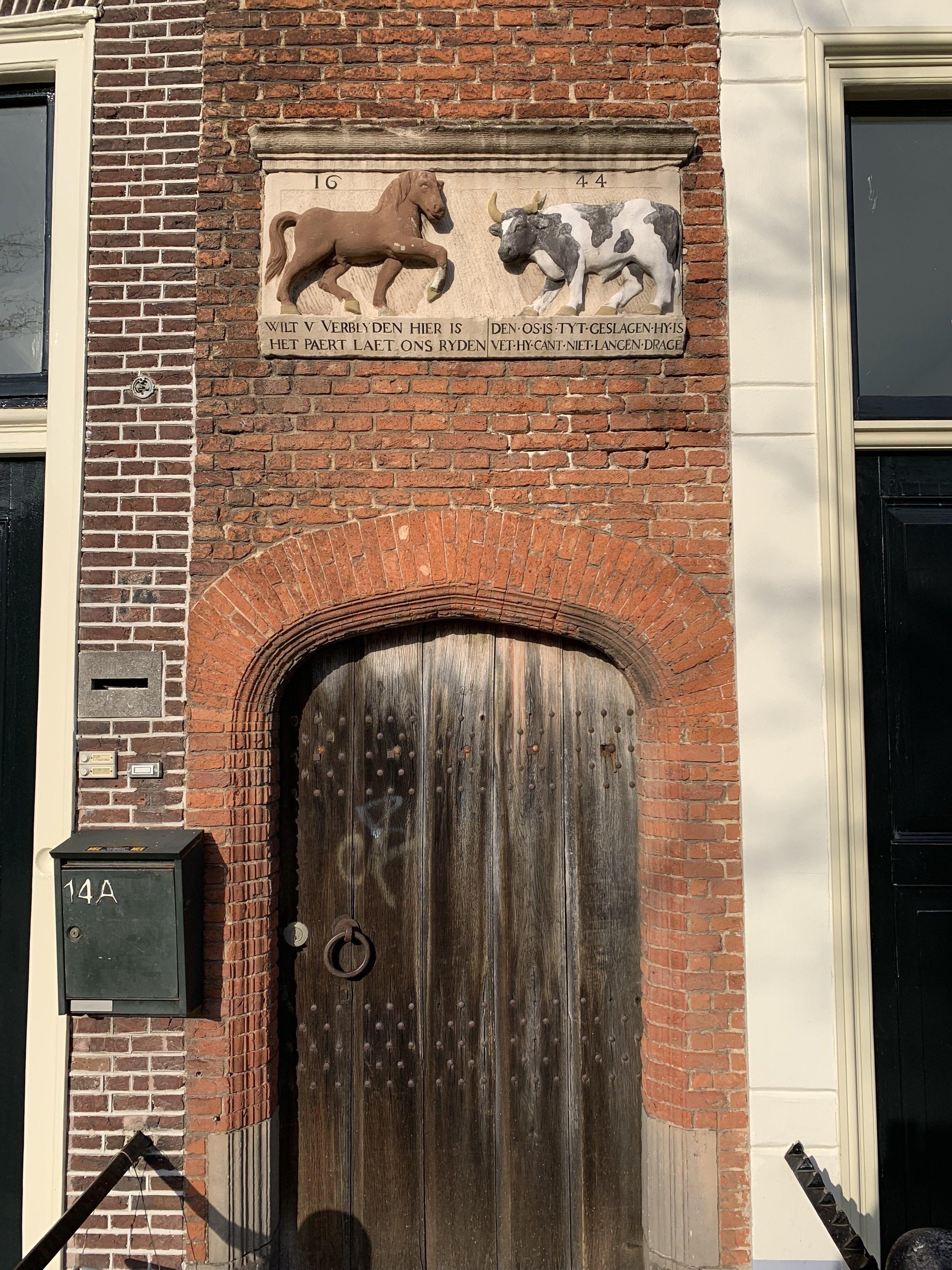 The beautiful doors of Leiden