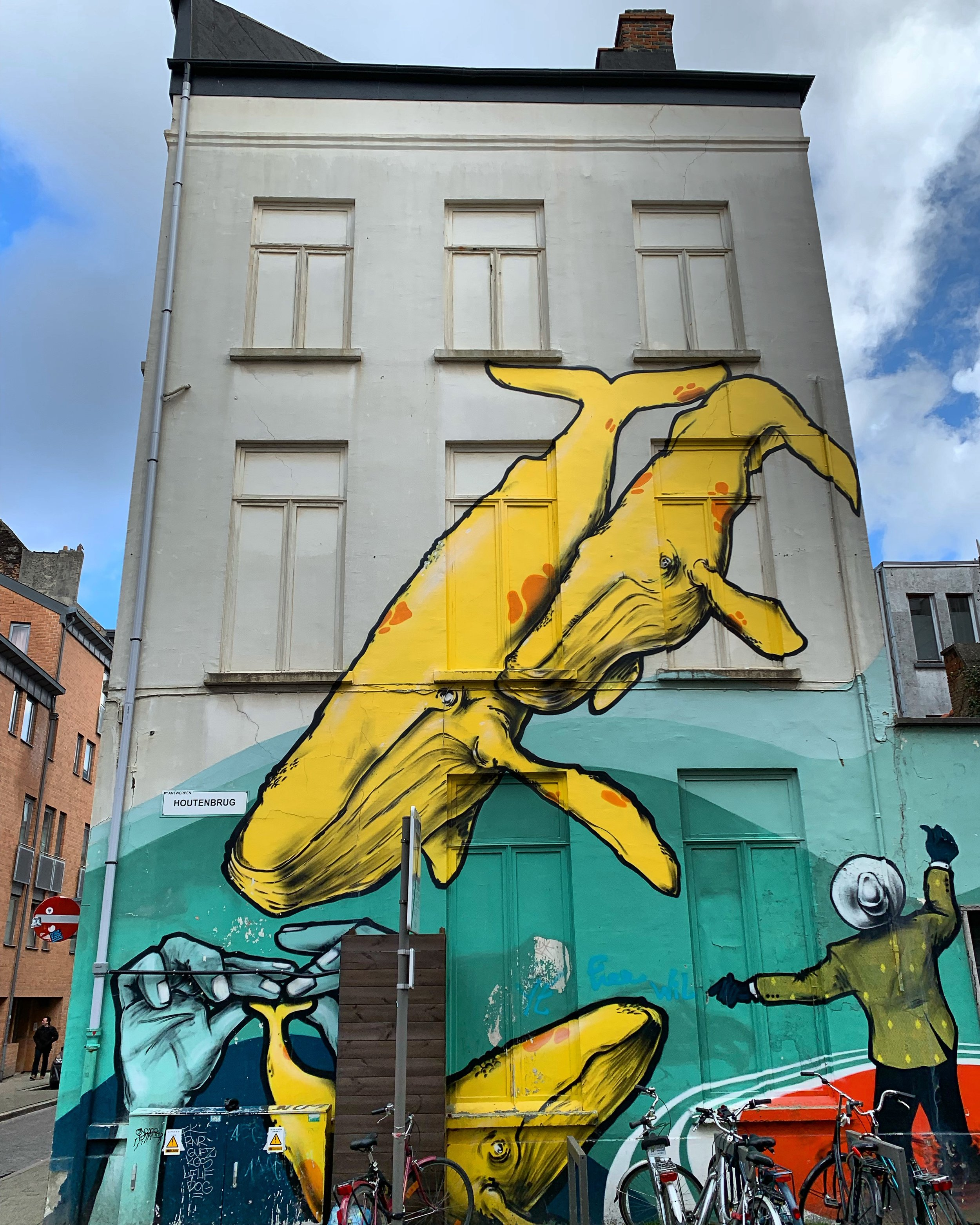 Before Netflix's Our Planet, there was this mural in Antwerp, Belgium.